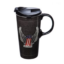 Ceramic Perfect Cup, 17oz, H-D, #1 Logo