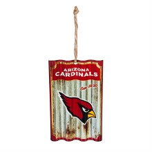 Arizona Cardinals, Metal Corrugate Ornament