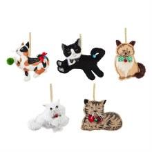 Fabric Cat Ornament
