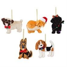 Fabric Dog Ornament