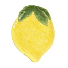 14'' Shaped Ceramic Platter, Lemon Drop Collection