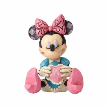 Jim Shore  Mini Minnie with a hear