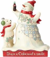 Jim Shore Snowman Coca Cola