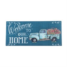 Floral Truck Welcome Sassafras Switch Mat