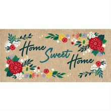 Home Sweet Home Burlap Sassafras Switch Mat