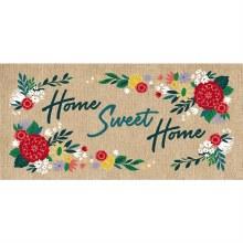 Home Sweet Home Burlap Sassafras Switch Mat