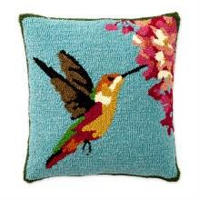 """18""""x18'' Indoor/Outdoor Pillow Hummingbird"""