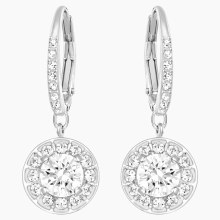 Swarovski Attract Earrings, White, Rhodium plated