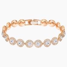 Swarovski Angelic Bracelet, White, Rose-gold tone plated