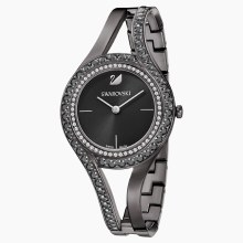 Swarovski Eternal Watch, Metal bracelet, Black, Gun-metal PVD