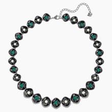 Swarovski Black Baroque Necklace, Multi-colored, Ruthenium plated
