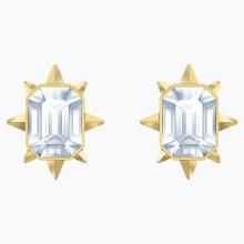 Swarovski Tarot Magic Stud Pierced Earrings, White, Gold-tone plated