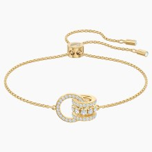 Swarovski Further Bracelet, White, Gold-tone plated