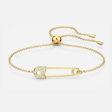 Swarovski So Cool Pin Bracelet, White, Gold-tone plated