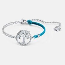 Swarovski Symbolic Tree of Life Bracelet, Blue, Rhodium plated