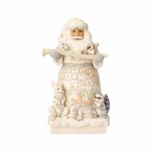 Jim Shore JS HWC Statue Wdlnd Santa Hold