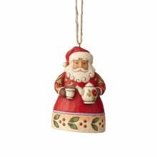 Jim Shore JS HWC HO Santa With Teapot
