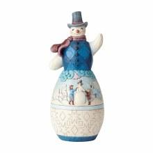 Jim Shore JS HWC Statue Snowman With Win