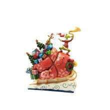 Jim Shore JS Grinch Fig Grinch on Sleigh