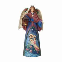 Jim Shore Lighted Angel with Holy Family