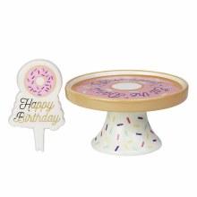 ONIM CAKE PLATE SIGN SET BIRTH