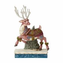 Jim Shore JS HWC Fig Vict Reindeer Pranc