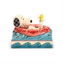 Jim Shore Peanuts Snoopy/Woodstock in Floatie