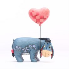 Jim Shore Disney Traditions Eeyore with a Heart Balloon