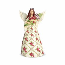 Jim Shore Heartwood Creek Angel with Red Roses