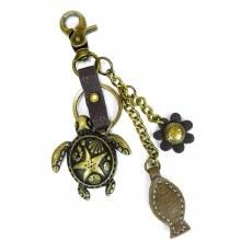 Charming Key Chain  TURTLE & F