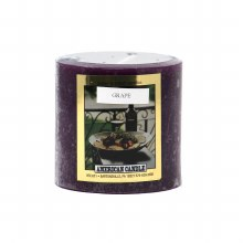 American Candle Grape 3x3 Pillar Candle