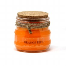 American Candle Orange Cork Top Jar Candle