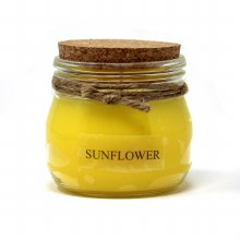 American Candle Sunflower Cork Top Jar Candle