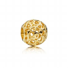 Pandora Love and hearts charm in 14k g