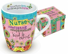 HEARTS AND HUGS NURSE MUG