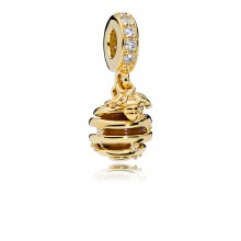 Beehive dangle in PANDORA Shin