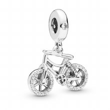 Bicycle dangle in sterling sil
