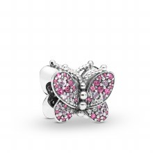 Butterfly charm in sterling si