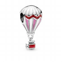 Air balloon silver charm with