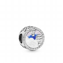 Air balloons silver charm with