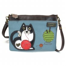 Mini Crossbody FatCat blue gra