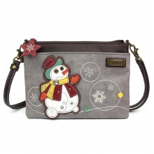 Mini Crossbody Snowman gray