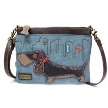 Mini Crossbody WienerDog indig