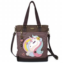 Work Tote Unicorn PinkStripe