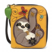 Zip Around Wallet   Sloth Yell