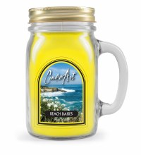 Beach Daisies Mug Candle with Wood Wick