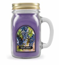 Grape Arbor Mug Candle with Wood Wick Violet
