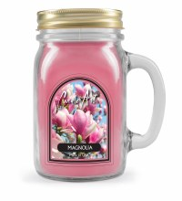 Magnolia Mug Candle with Wood Wick