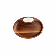 Nora Fleming Servingware walnut tidbit tray