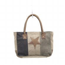 """STAR ON CANVAS"" SMALL BAG"